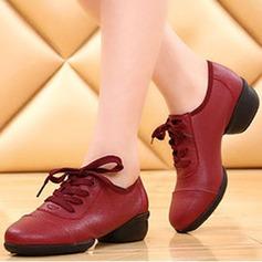 Мужская кожа ткань На плокой подошве Танцевальные кроссовки Обувь для танцев (053113326)