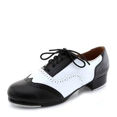 Женщины Кожа из микроволокна На каблуках Степ с Шнуровка Обувь для танцев (053041949)