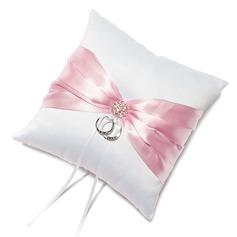 Puhdas Eleganssia Rengas Tyyny sisään Satiini jossa Satiininauhavöitä/Strassit (103049652)