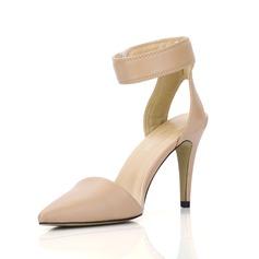 Couro Salto agulha Bombas Fechados Sapatos abertos sapatos (085022611)