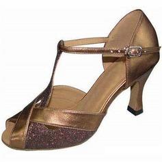 Femmes Pailletes scintillantes Talons Latin avec Boucle Chaussures de danse (053058017)