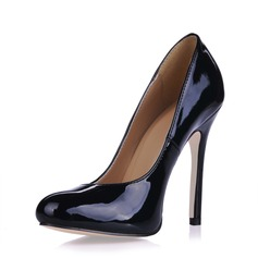 Vrouwen Patent Leather Stiletto Heel Pumps Closed Toe schoenen (085017507)