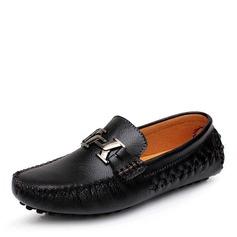 Мужская натуральня кожа Лошадь Мокасины вскользь Men's Loafers (260176598)