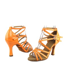 Женщины кожа На каблуках Сандалии Латино Обувь для танцев (053119950)