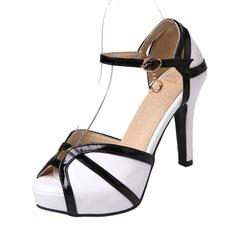 Женщины PU Высокий тонкий каблук Сандалии На каблуках Платформа Открытый мыс с пряжка обувь (087155469)