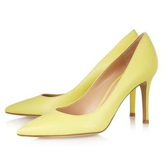 Vrouwen Patent Leather Stiletto Heel Pumps Closed Toe schoenen (085044471)