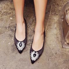 Женщины кожа Плоский каблук На плокой подошве Закрытый мыс с пряжка Другие обувь (086153092)