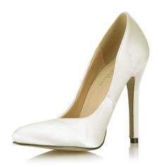 Satiné Talon stiletto Escarpins Bout fermé chaussures (085053024)