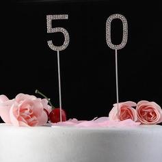 Сияющие Стразы Число Хром юбилей Фигурки для торта (119031364)