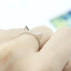 s925 Silver Уникальные модные кольца для модных кошачьих ушей Подарки (129140577)