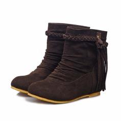 Naisten Mokkanahka Matala heel Nilkkurit kengät (088070004)