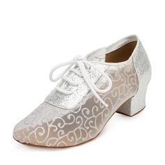 Женщины ткань Сандалии качать Практика Обувь для танцев (053095148)