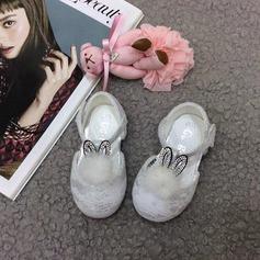 Ребенка Круглый носок Балетная квартира шнурок Плоский каблук На плокой подошве Обувь для девочек с На липучке пом пом (207157195)