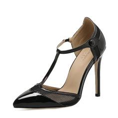 Vrouwen Kunstleer Stiletto Heel Pumps Closed Toe schoenen (085150604)