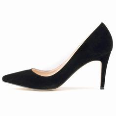 Mulheres Camurça Salto agulha Bombas Fechados sapatos (085113512)