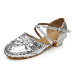 Детская обувь Мерцающая отделка На каблуках На каблуках Бальные танцы с Ремешок на щиколотке Обувь для танцев (053092248)