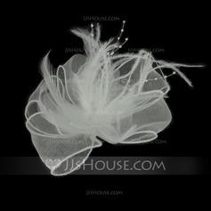 Необычные перья/Тюль Цветы и перья (042050410)