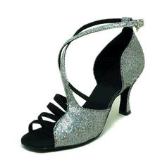 Mulheres Espumante Glitter Sandálias Latino Salão de Baile Sapatos de dança (053008215)