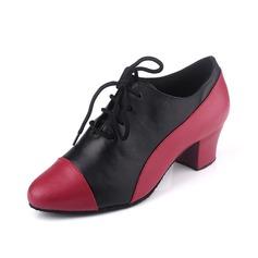 Женщины Натуральня кожа На каблуках На каблуках Практика с Шнуровка Обувь для танцев (053057183)
