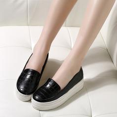 Женщины Замша Вид каблука Закрытый мыс Танкетка с Животных печати обувь (086119395)