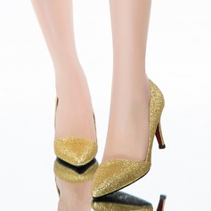 Women's Sparkling Glitter Stiletto Heel Pumps Closed Toe shoes (085094474)
