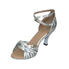 Vrouwen Kunstleer Sprankelende Glitter Hakken Sandalen Latijn met Enkelriempje Dansschoenen (053022114)