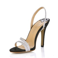 Mulheres Couro Salto agulha Sandálias Sapatos abertos sapatos (087017923)