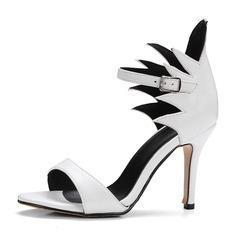 Женщины PU Высокий тонкий каблук Сандалии На каблуках с пряжка обувь (087155483)