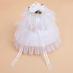 Delicate Ring Box With Ribbons/Faux Pearl (051041490)
