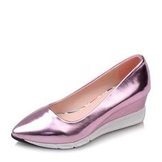Женщины PVC Вид каблука Танкетка обувь (116155023)