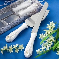 Grünliche Lilien-Blumen Entwurf Servierplatten Sets (121030533)