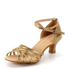 Mulheres Couro Sandálias Latino Sapatos de dança (053143455)
