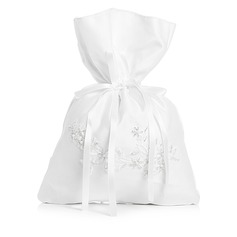 Charmen Satineret med Imiteret perle Brude Pung (012003827)
