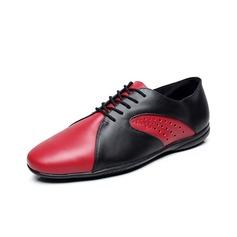 Мужская Натуральня кожа На плокой подошве Танцевальные кроссовки Практика с В дырочку Обувь для танцев (053080770)