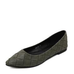 Женщины PU Плоский каблук На плокой подошве Закрытый мыс с Другие обувь (086139691)