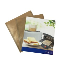 Modern Classic Treats Non Stick Reusable Toaster Bags for Sandwich and Grilling (Set of 10) Non-personalized Gifts (129140475)