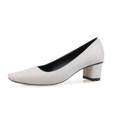 Женщины Замша Устойчивый каблук На каблуках Закрытый мыс обувь (085085031)