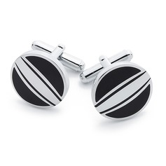 Simple Round Zinc Alloy Cufflink (Set of 2) (051033673)