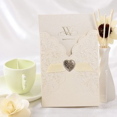 Estilo Florais e do bolso Invitation Cards com Fitas (Conjunto de 50) (114032374)