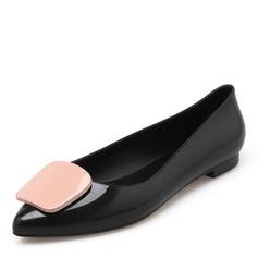 Kvinner PVC Flate sko Lukket Tå sko (086165232)