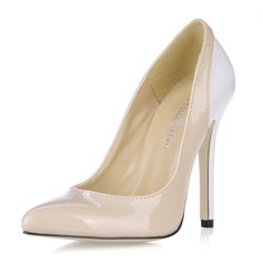 Vrouwen Patent Leather Stiletto Heel Closed Toe Pumps (047016461)