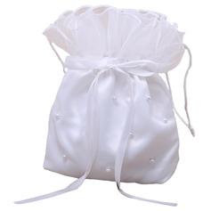 Прекрасный атласная с бантом/Имитация Pearl Сумочка невесты (012026343)