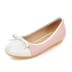 Vrouwen Kunstleer Flat Heel Flats Closed Toe schoenen (086089837)