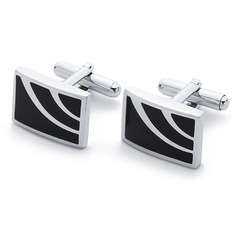 Simple Rectangular Zinc Alloy Cufflink (Set of 2) (051033671)