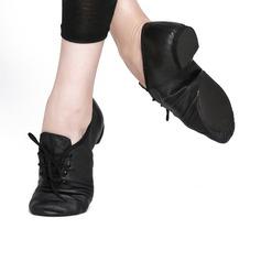 Женщины Натуральня кожа На плокой подошве Джаз Обувь для танцев (053121378)