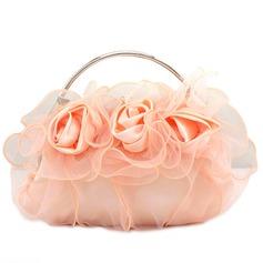Lovely Seda/Renda Embreagens/Bolsa de Pulso (012062816)