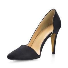 satén sedoso Tacón stilettos Salón Cerrados zapatos (085017008)