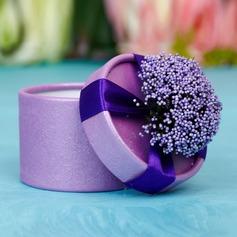 Clássico Cilindro Caixas do Favor com Flores (Conjunto de 12) (050038237)