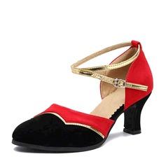 Mulheres Camurça Saltos Salão de Baile Sapatos de dança (053143458)