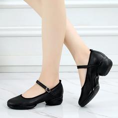 Женщины Натуральня кожа Танцевальные кроссовки Современный Обувь для танцев (053138892)